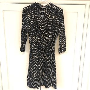Ellie Kai cinched waist dress in zebra print